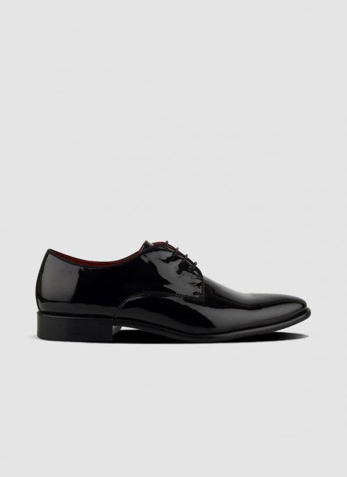 Language Shoes-Men-Noble Derby-Premium Leather-Black Colour-Formal Shoe