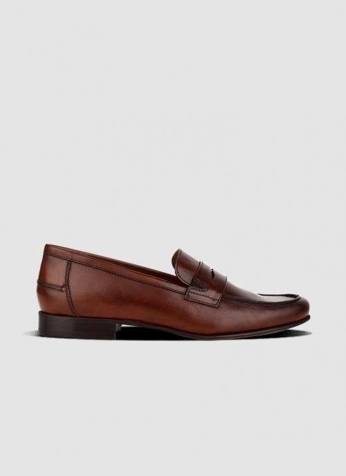 Language Shoes-Men-Zande Loafer-Premium Leather-Brown Colour-Formal Shoe