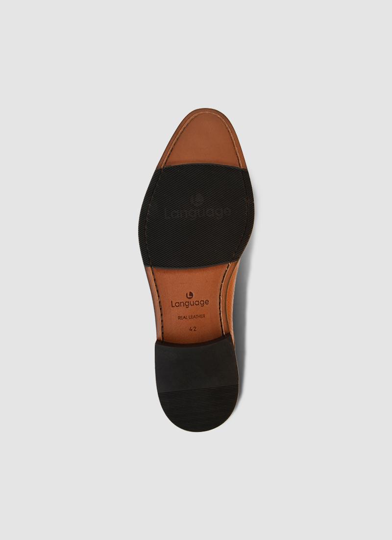 Language Shoes-Men-Basil Derby-Premium Leather-Tan Colour-Formal Shoe