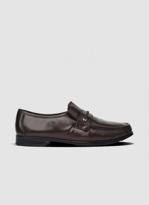 Language Shoes-Men-Gale Moccasin-Premium Leather-Wine Colour-Formal Shoe