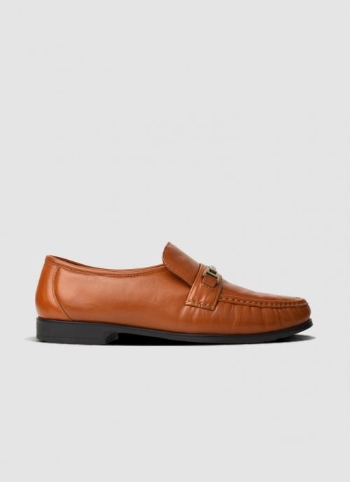 Language Shoes-Men-Franco Moccasin-Premium Leather-Tan Colour-Formal Shoe