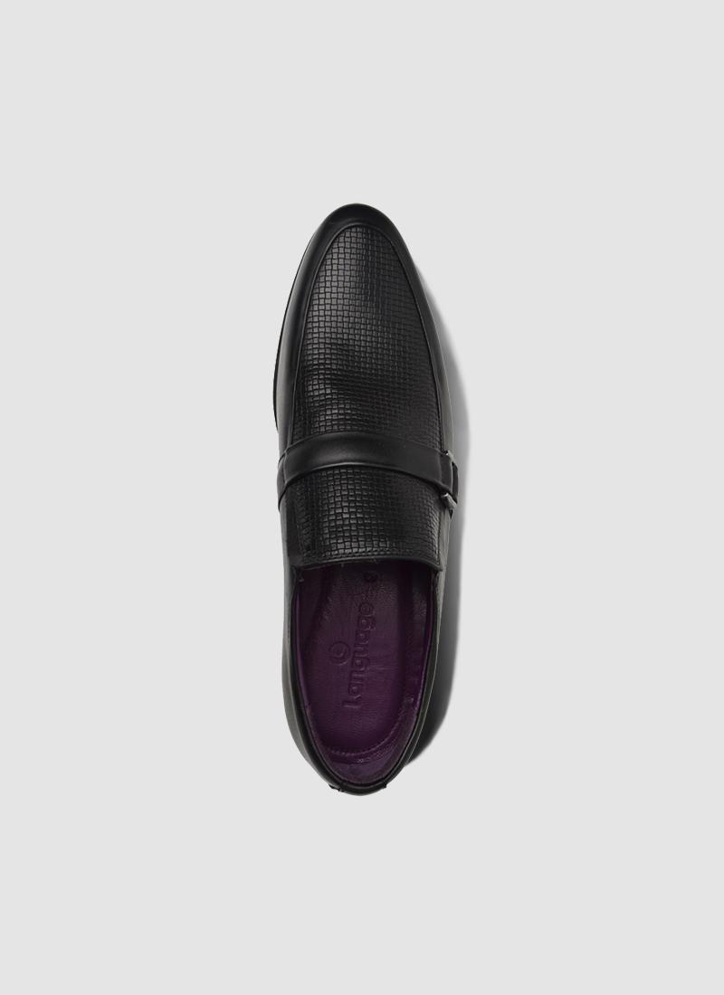 Language Shoes-Men-Gem Loafer-Premium Leather-Black Colour-Formal Shoe