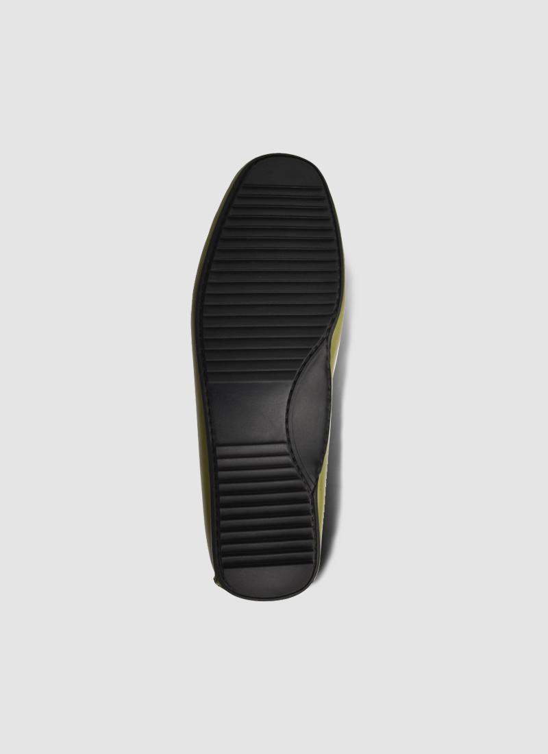 Language Shoes-Men-Jason Driver-Premium Leather-Green Colour-Casual Shoe