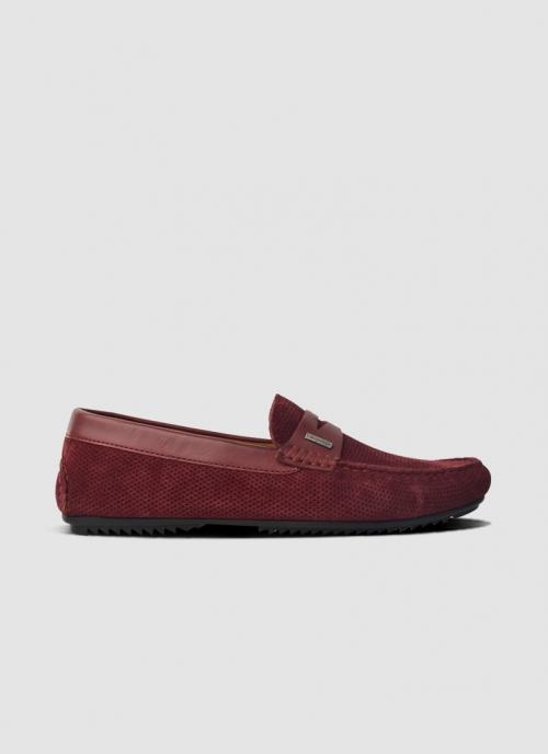 Language Shoes-Men-Gaya Driver-Premium Leather-Wine Colour-Casual Shoe