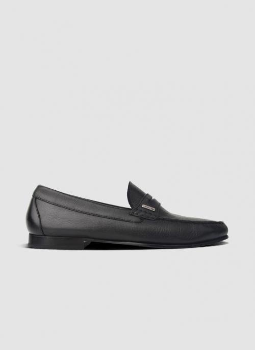 Language Shoes-Men-Maximo Moccasin-Premium Leather-Black Colour-Formal Shoe