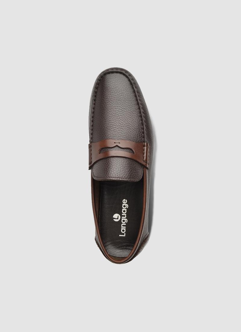 Language Shoes-Men-Iron Driver-Premium Leather-Brown Colour-Casual Shoe