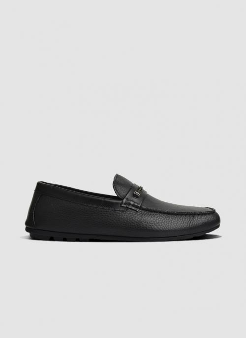 Language Shoes-Men-Tampa Driver-Premium Leather-Black Colour-Casual Shoe