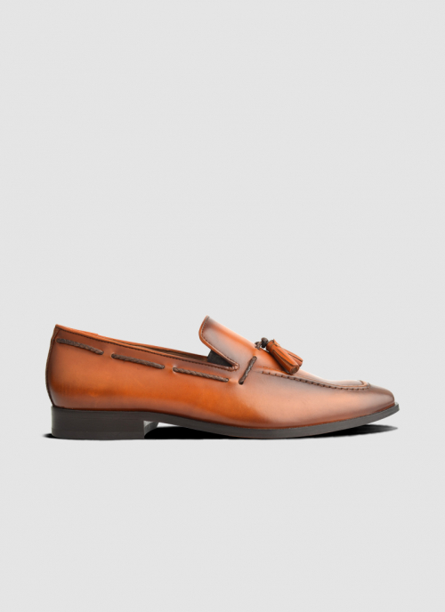 Language Shoes-Men-Seid Loafer-Premium Leather-Tan Colour-Formal Shoe