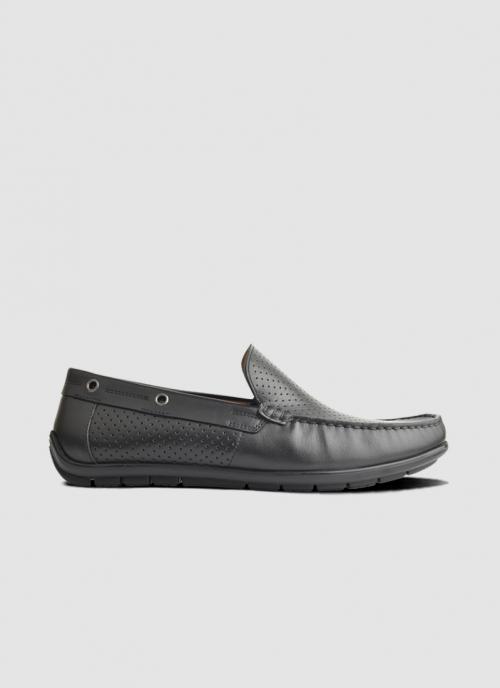 Language Shoes-Men-Raya Driver-Premium Leather-Black Colour-Casual Shoe