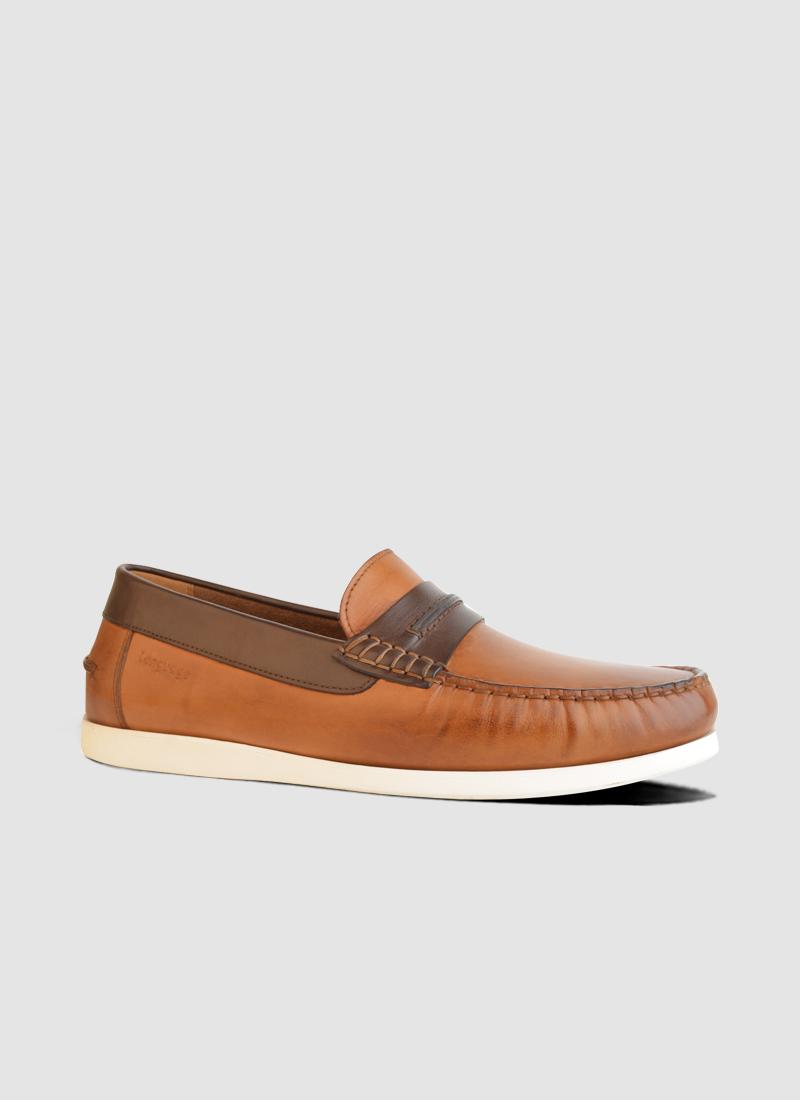 Language Shoes-Men-Cosmo Boat Shoe-Premium Leather-Tan Colour-Casual Shoe