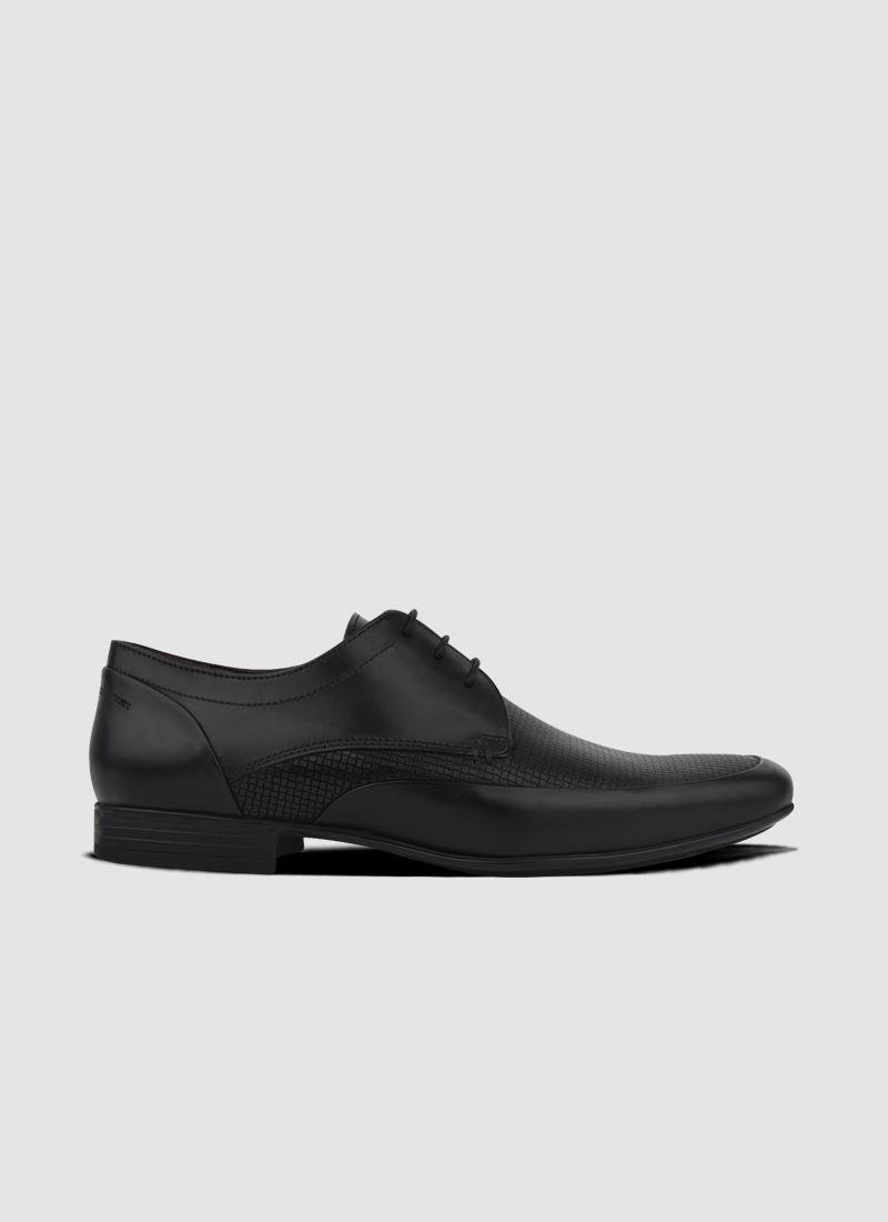 Language Shoes-Men-ArIan Derby-Premium Leather-Black Colour-Formal Shoe