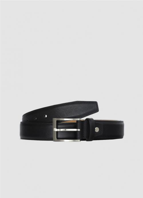 Language Shoes-Men-Lorin Belt-Premium Leather-Black Colour-Belt