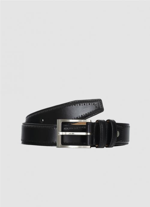 Language Shoes-Men-Roger Belt-Premium Leather-Black Colour-Belt