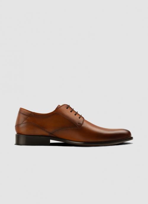 Language Shoes-Men-Rim Derby-Premium Leather-Tan Colour-Formal Shoe