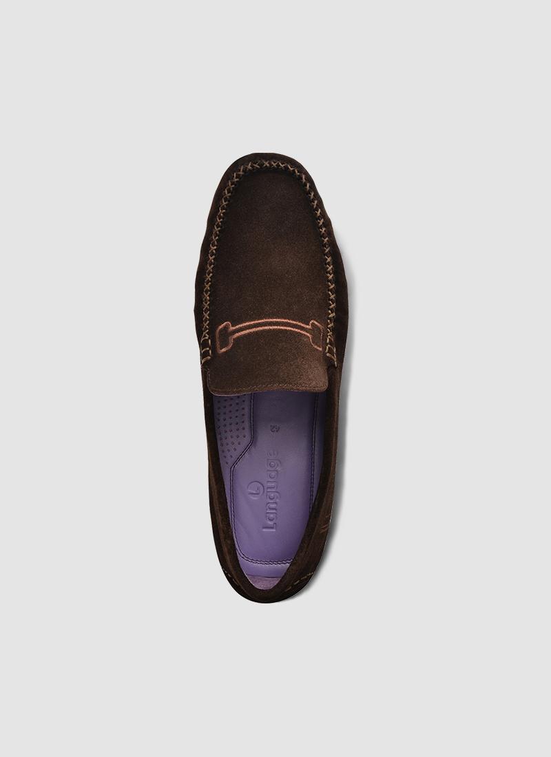 Language Shoes-Men-Ryuk Driver-Premium Leather-Brown Colour-Casual Shoe