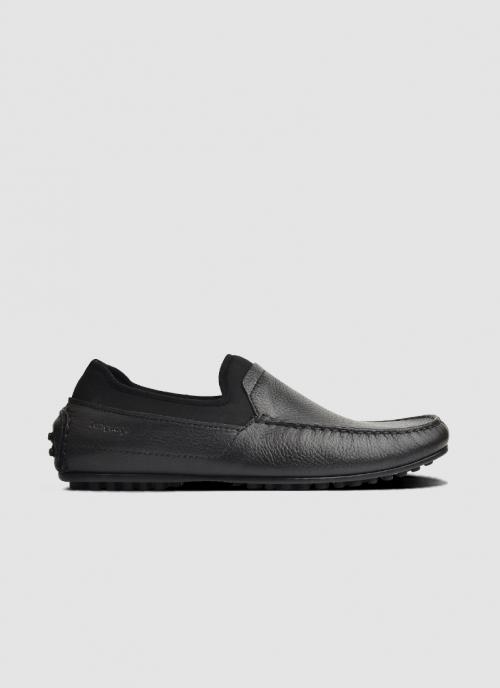 Language Shoes-Men-Renji Driver-Premium Leather-Black Colour-Casual Shoe