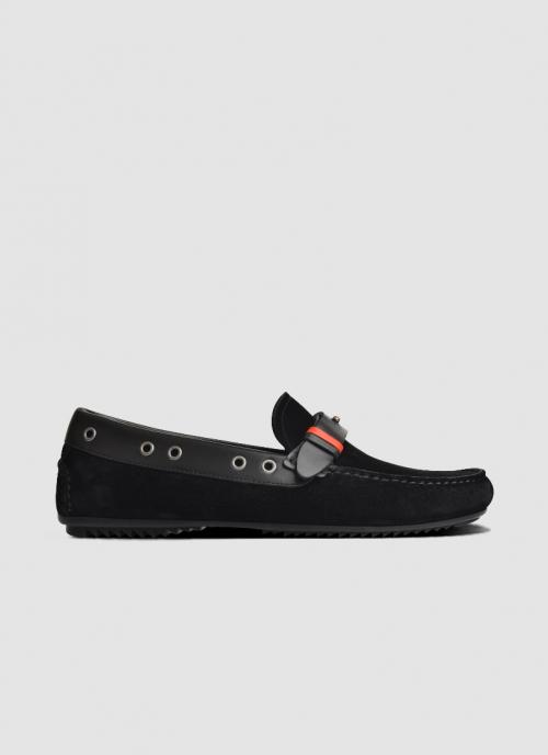 Language Shoes-Men-Reggie Driver-Premium Leather-Black Colour-Casual Shoe