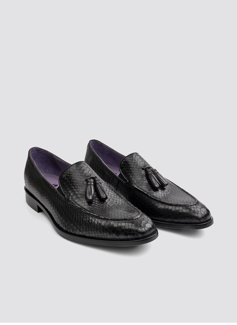 Language Shoes-Men-Braun Loafer-Premium Leather-Black Colour-Formal Shoe