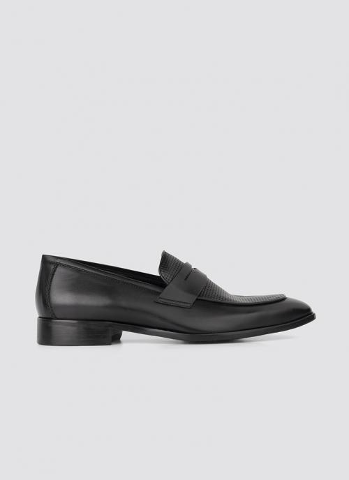 Language Shoes-Men-Chlad Loafer-Premium Leather-Black Colour-Formal Shoe