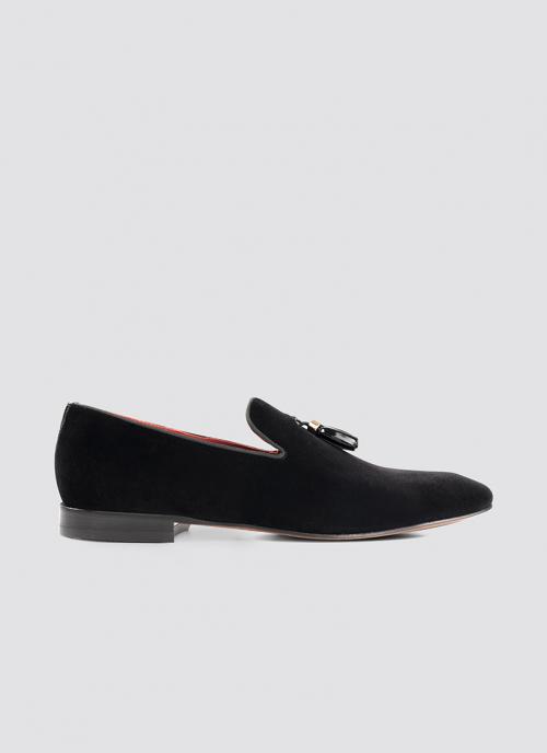 Language Shoes-Men-Colton Loafer-Fabric-Black Colour-Formal Shoe