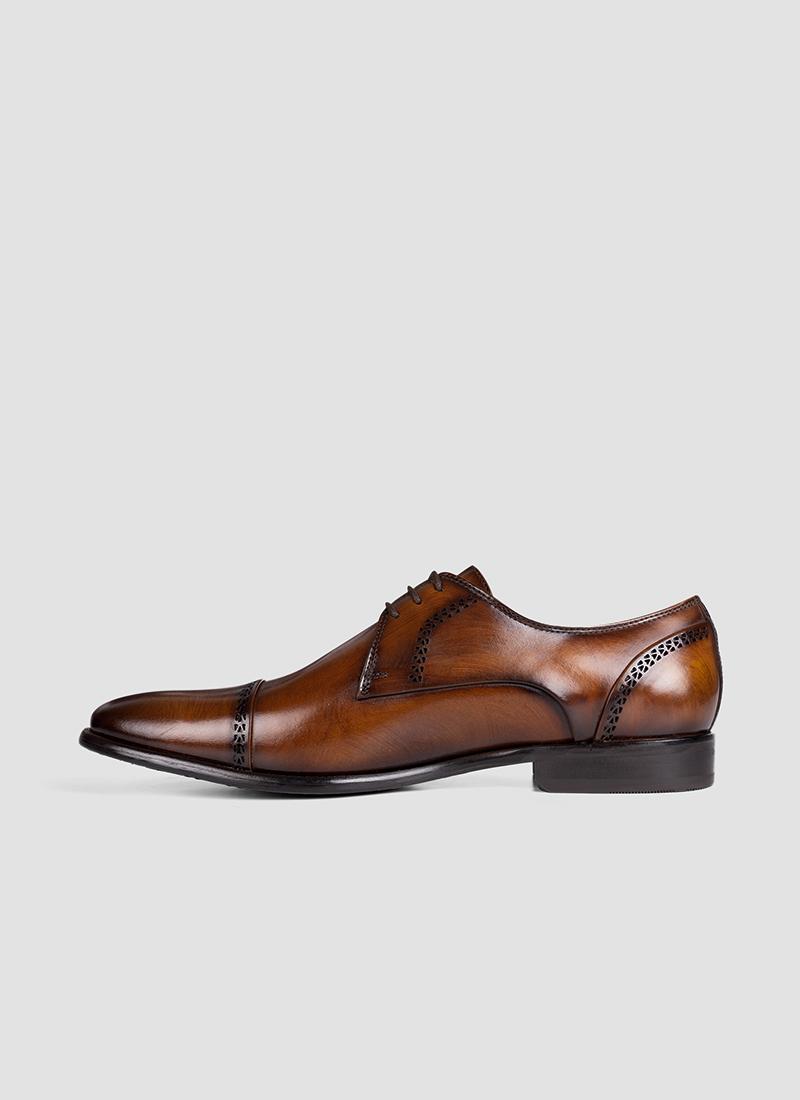 Language Shoes-Men-Dylaney Derby-Premium Leather-Tan Colour-Formal Shoe