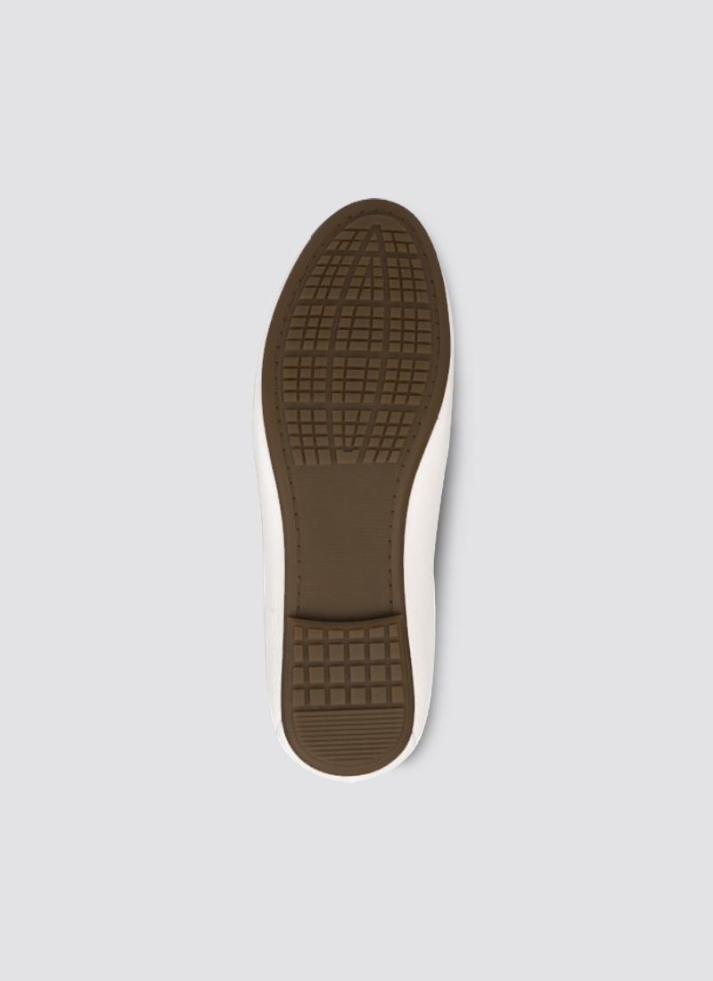 Language Shoes-Women-Calliope Ballerina-Premium Leather-Ecru Colour-Formal Shoe