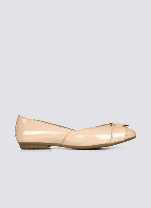 Language Shoes-Women-Circie Ballerina-Premium Leather-Rose Colour-Formal Shoe