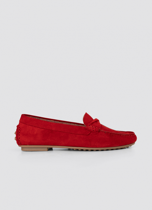 Language Shoes-Women-Bia Moccasin-Premium Leather-Red Colour-Formal Shoe