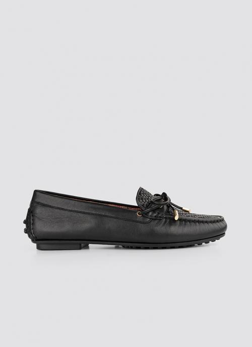 Language Shoes-Women-Artemis Moccasin-Premium Leather-Black Colour-Formal Shoe