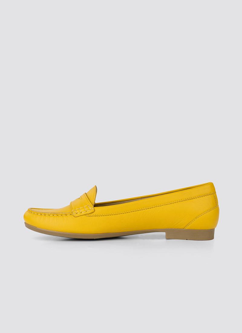 Language Shoes-Women-Selene Moccasin-Premium Leather-Senape Colour-Formal Shoe