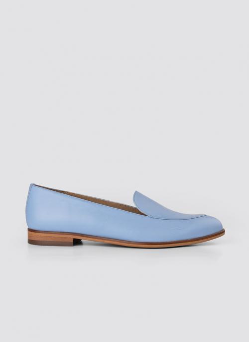 Language Shoes-Women-Calypso Loafer-Premium Leather-Blue Colour-Formal Shoe