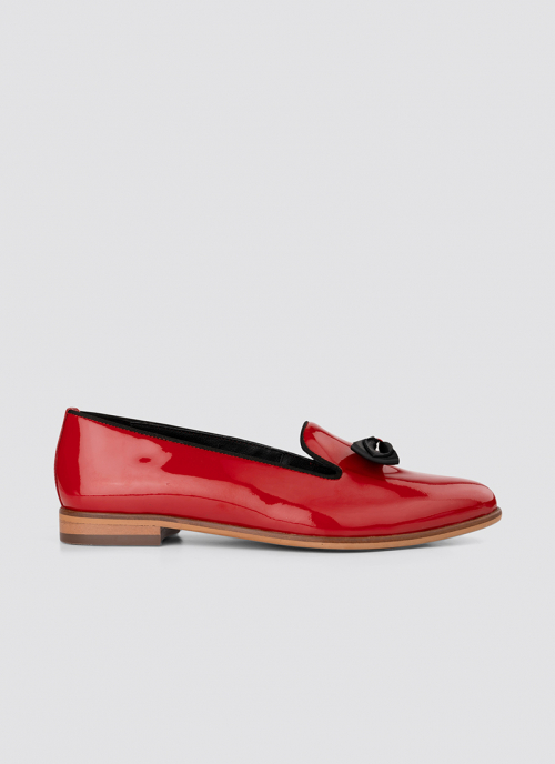 Language Shoes-Women-Urania Loafer-Premium Leather-Red Colour-Formal Shoe