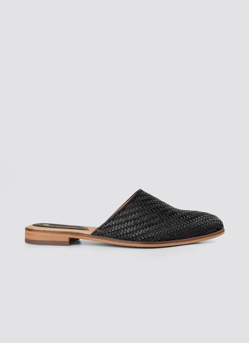 Language Shoes-Women-Eos Mule-Premium Leather-Black Colour-Sandal