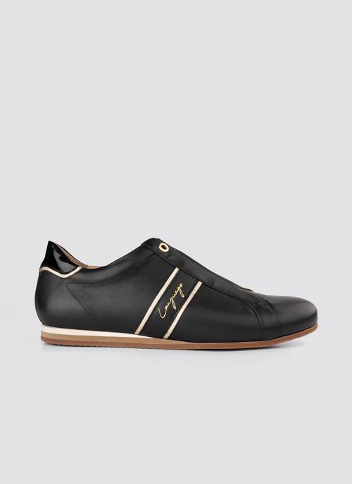 Language Shoes-Women-Eris Sneaker-Premium Leather-Black Colour-Sneaker