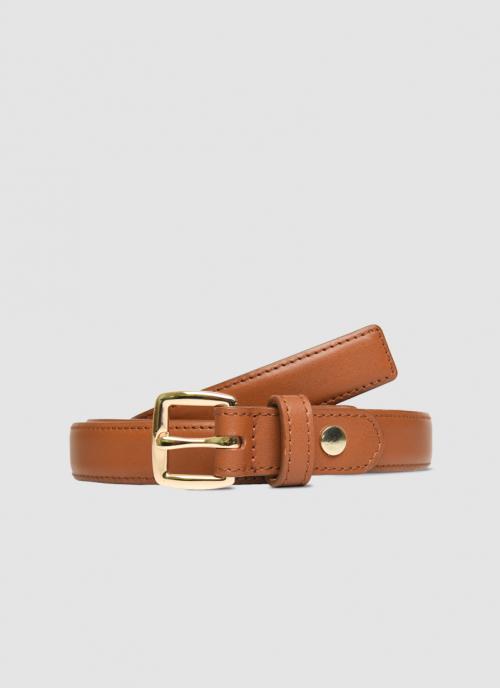 Language Shoes-Women-Bernadette Belt-Premium Leather-Tan Colour-Belt