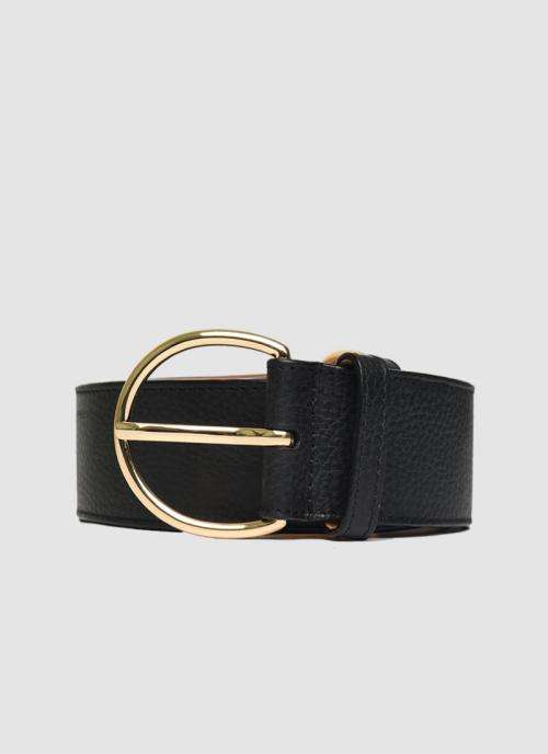 Language Shoes-Women-Georgia Belt-Premium Leather-Black Colour-Belt