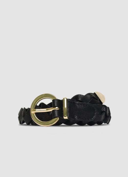 Language Shoes-Women-Myra Belt-Premium Leather-Black Colour-Belt