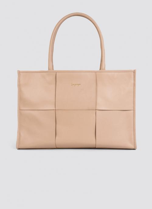 Language Shoes-Women-Mocha Tote-Premium Leather-Rose Colour-Leather Accessories