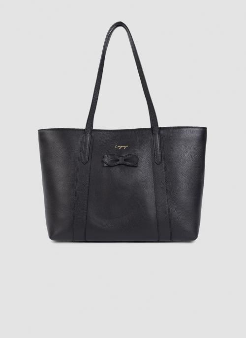 Language Shoes-Women-Amethyst Tote-Premium Leather-Black Colour-Leather Accessories