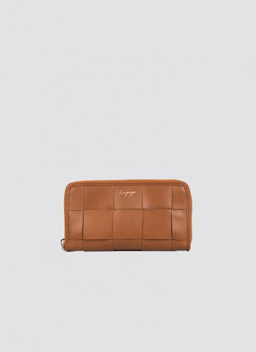Language Shoes-Women-Coco Long Wallet-Premium Leather-Tan Colour-Leather Accessories
