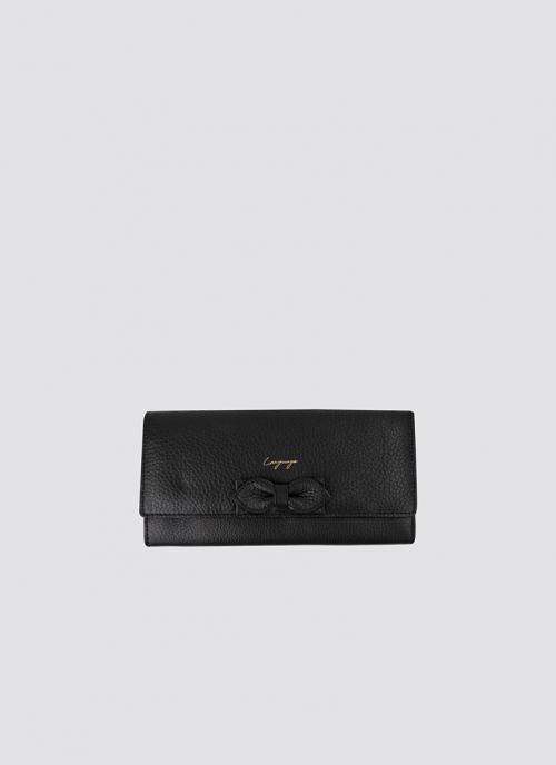 Language Shoes-Women-Onyx Long Wallet-Premium Leather-Black Colour-Leather Accessories