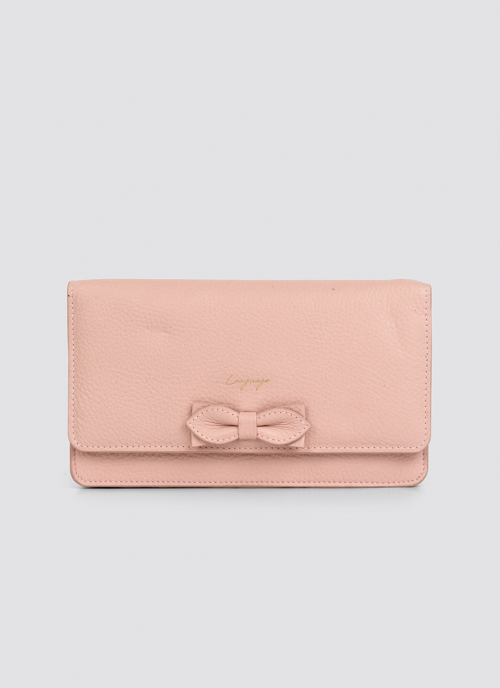 Language Shoes-Women-Carol Wallet on Chain-Premium Leather-Pink Colour-Leather Accessories