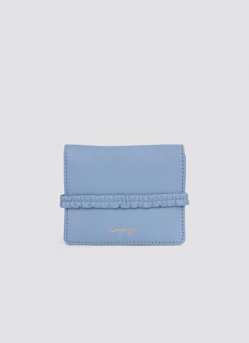 Language Shoes-Women-Ebony Wallet-Premium Leather-Blue Colour-Leather Accessories