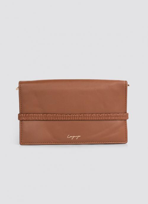 Language Shoes-Women-Keily Wallet on Chain-Premium Leather-Tan Colour-Leather Accessories