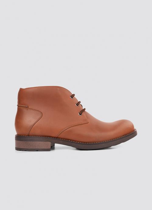Language Shoes-Men-Ruox Boot-Premium Leather-Tan Colour-Boot