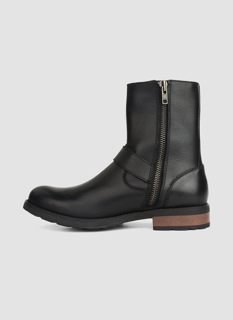 Language Shoes-Men-Kiera Boot-Premium Leather-Black Colour-Boot
