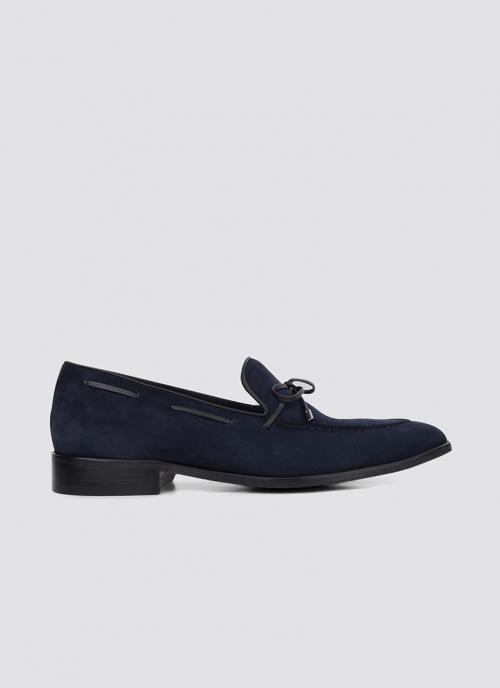 Language Shoes-Men-Gene Loafer-Premium Leather-Navy Colour-Formal Shoe