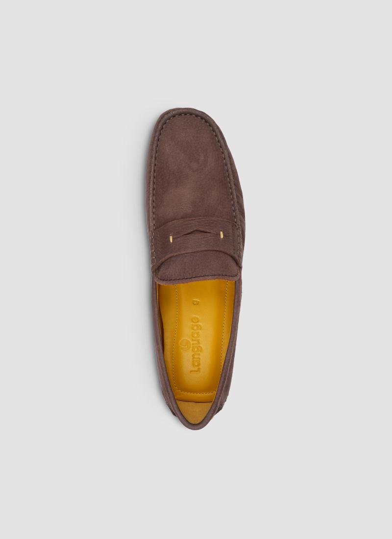Language Shoes-Men-Ares Driver-Premium Leather-Brown Colour-Casual Shoe