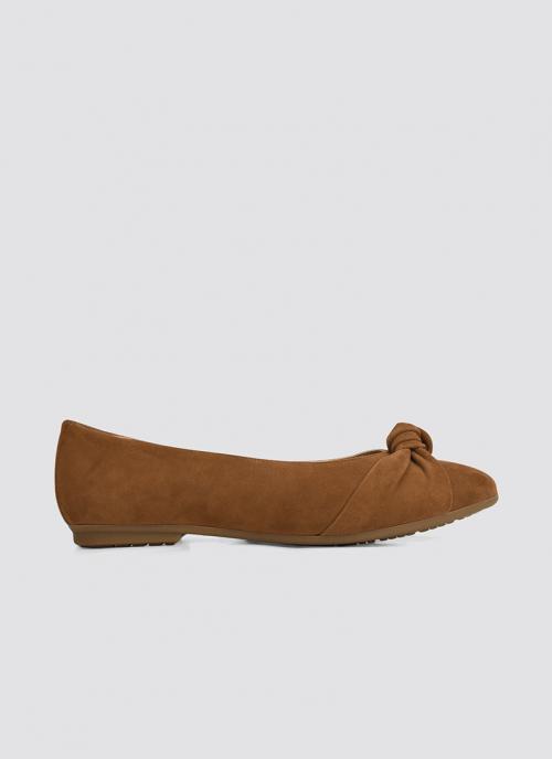 Language Shoes-Women-Doris Ballerina-Premium Leather-Tan Colour-Formal Shoe