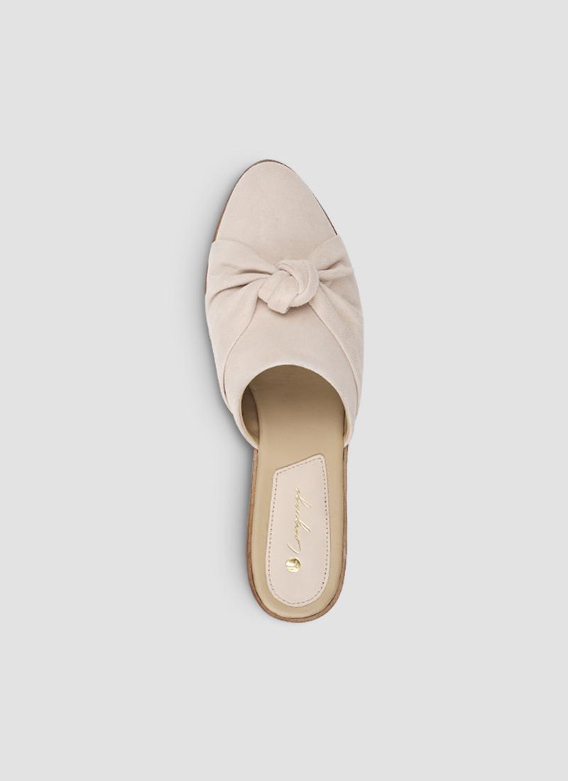 Language Shoes-Women-Hygea Mule-Premium Leather-Rose Colour-Sandal